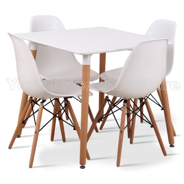 Eiffel Designer Dining Set White Square Table amp 4 White  : eiffel white designer dining set small square 80cms table 4 white eiffel style chairs 3 4533 p from www.yourpricefurniture.com size 601 x 601 jpeg 36kB